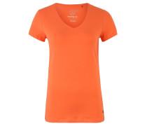 T-Shirt, Bio-Baumwolle, V-Ausschnitt, unifarben