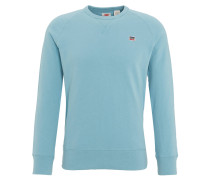 Sweatshirt, Baumwolle, Raglanärmel, Logo-Patch, uni