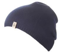 Mütze, Material-Mix, Feinstrick, Emblem