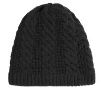 Mütze, Beanie-Stil, Strick, Zopfmuster