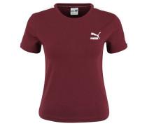 """T-Shirt """"Classic"""", Rippsaum, Logo-Print, zweifarbig"""