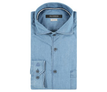 Businesshemd, Regular Fit, Jeans-Optik, Kent-Kragen