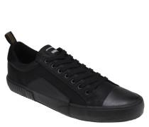 Sneaker, Leder, unifarben, Schnürung