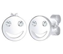 Ohrringe Smiley Icon Emoji Swarovski® Kristalle 925