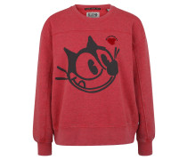 Sweatshirt, Used-Optik, Front-Print, meliert