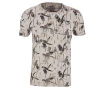 T-Shirt, Baumwolle, Allover-Print, Oilwash