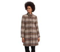 Mantel, Woll-Anteil, Hahentrittmuster, mehrfarbig
