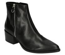 Ankle Boots, Glattleder, Ziernähte, Zier-Reißerschluss