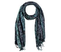 Schal, florales Muster, Fransen, mehrfarbig