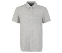 Freizeithemd, Slim Fit, Button-Down-Kragen, Leinenmix