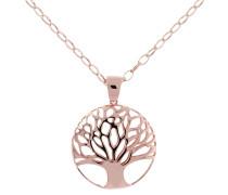 """Kette mit Anhänger """"Lebensbaum"""", Bronze, rosévergoldet"""