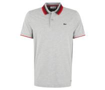 Poloshirt, Baumwolle, Piqué, Kragenstreifen