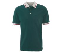 Polo-Shirt, Baumwolle, Kurzarm, gestreifte Bündchen