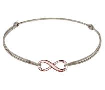Armband Infinity Unendlichkeit Nylon Bändchen 925er Silber
