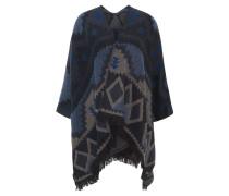 Poncho, Azteken-Muster, Ethno-Stil, Fransen