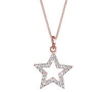 Halskette Stern Swarovski® Kristalle 925 Sterling Silber