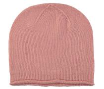 Mütze, Strick, Kaschmir-Anteil, Rollsaum