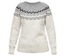 "Pullover ""Övik Knit"", Mustermix, Rundhalsausschnitt, Wolle"