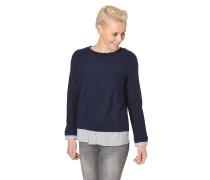 Pullover, 2-in-1-Look, Streifen-Details