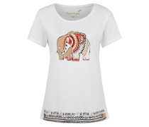 T-Shirt, Baumwolle, Print, Rundhalsausschnitt