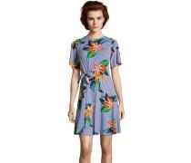 Minikleid, Jersey, Schleife, floraler Print