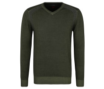 Pullover, Strick, V-Ausschnitt, Naht-Details