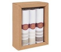 Taschentuch, 3er-Pack, Baumwolle