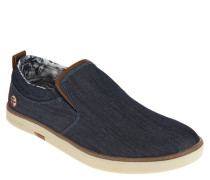 Slip-Ons, Textil, Jeanslook, herausnehmbare Sohle, Canvas