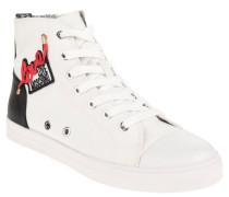 Sneaker, hoher Schaft, Logo-Aufnäher, Reißverschluss