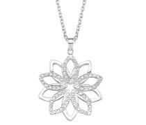 Damen-Halskette mit Swarovski® Kristallen Blume