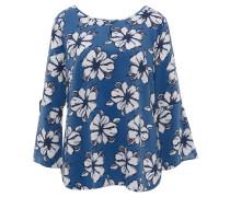 Tunika, florales Muster, Binde-Details, verlängerter Rücken