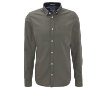 Freizeithemd, Regular Fit, Under-Button-Down-Kragen, Punkte-Muster
