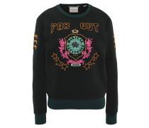 Sweatshirt, Stickerei auf Front und Ärmeln
