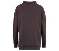Sweatshirt, Rippbündchen, meliert, Stehkragen