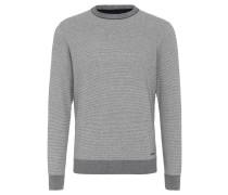 Pullover, meliert, Baumwolle, abgesetzte Bündchen