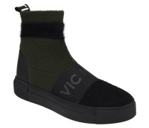 Boots, Socken-Optik, Strick, Elastik-Besatz, Plateau-Sohle