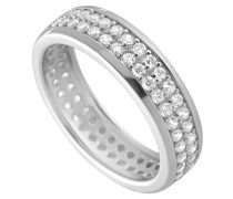Ring, Sterling  925, -Zirkonia, zus. 1,17 ct