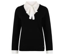 Pullover, Strick, Blusen-Einsatz, Lagen-Look