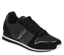Sneaker, Logo-Schriftzug, Silber-Details