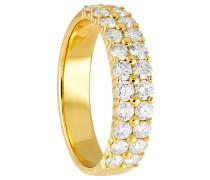 Diamant-Ring,  585, zus. ca. 1 ct.