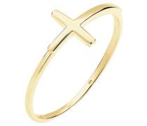 Ring Kreuz Trend 375 Gelb