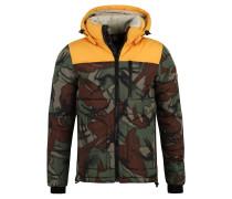 Steppjacke, wattiert, Camouflage-Muster, Kapuze abnehmbar