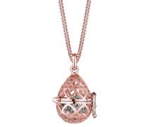 Halskette Medallion Herz Swarovski® Kristalle 925 Silber