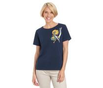 T-Shirt, reine Baumwolle, Ziernieten, Print