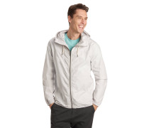 Klassische Jacke, Kapuze, Reißverschluss, uni