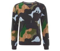 Sweatshirt, Camouflage, Stickerei-Detail, Streifen