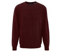 Pullover, gerippter Saum, Rundhalsausschnitt, Woll-Anteil