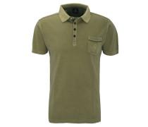 Poloshirt, Baumwolle, Brusttasche, uni
