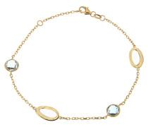 "Armband ""Kreiskristall"", Topas, 375 Gelb"