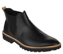 Chelsea Boots, Leder, kontrastfarbener Akzent